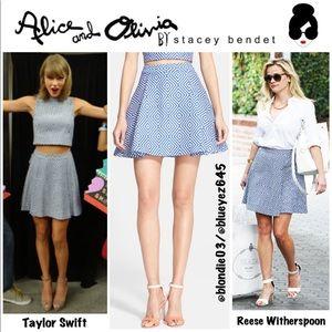"""Alice + Olivia """"Vernon"""" jacquard mini skirt 0"""